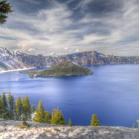 Crater Lake is the 9th deepest lake in the world