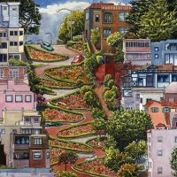 Lombard Street is one of San Francisco's most popular landmarks