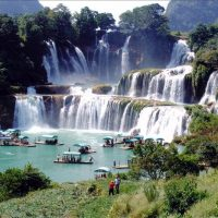 Detian Waterfall is a transnational waterfall in china