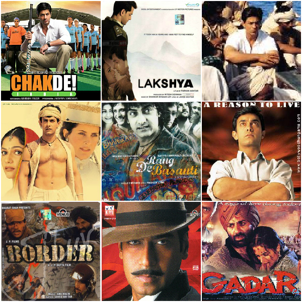 Patriotic Bollywood Movies of Independence Day