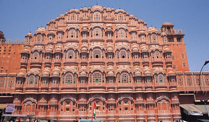 Do you know jaipur's hawa mahal built to look like lord krishnas crown